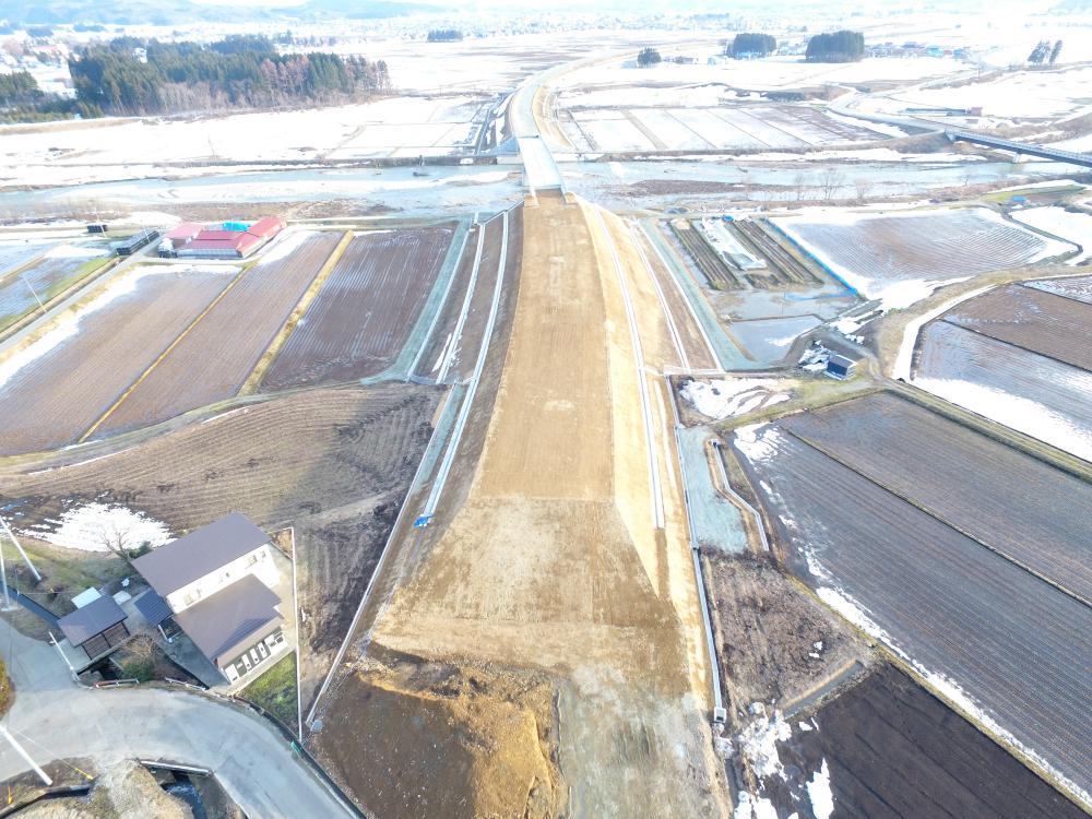野中南地区道路改良工事:画像