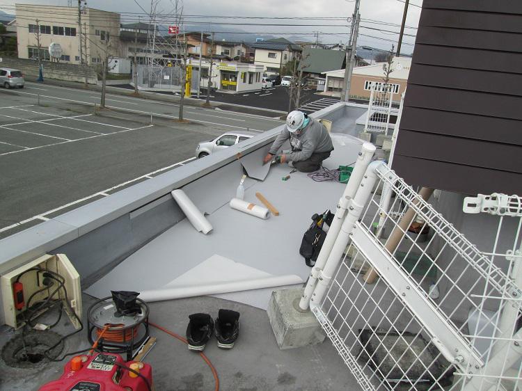 シート防水工事が行われました。:画像