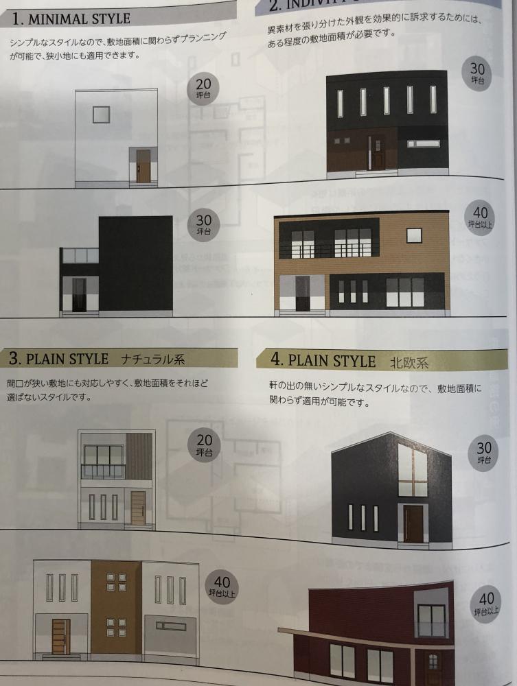 さまざまな住宅の外観スタイル