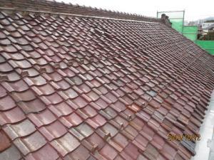 「蔵の屋根替え工事始まる」の画像