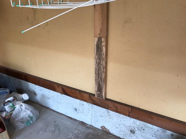 シロアリ被害の修繕工事