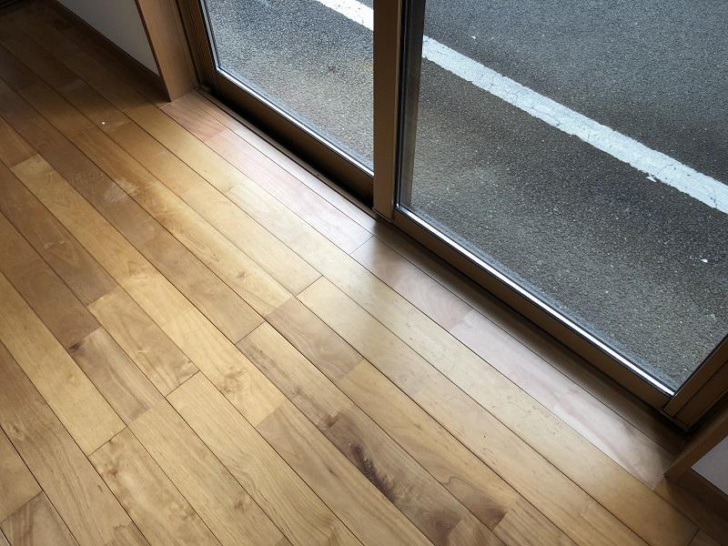 床の貼替え補修