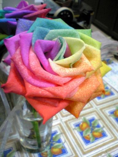 七色のバラ???