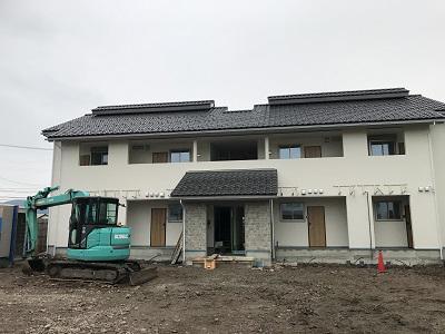 山形の新築アパート工事進行中�!!/
