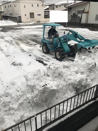 ~除雪作業~