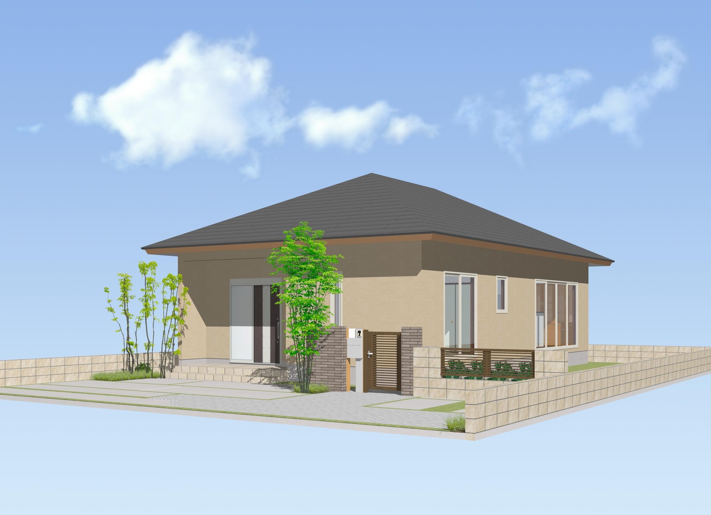 ゆとりの家23.05T/平屋住宅:画像