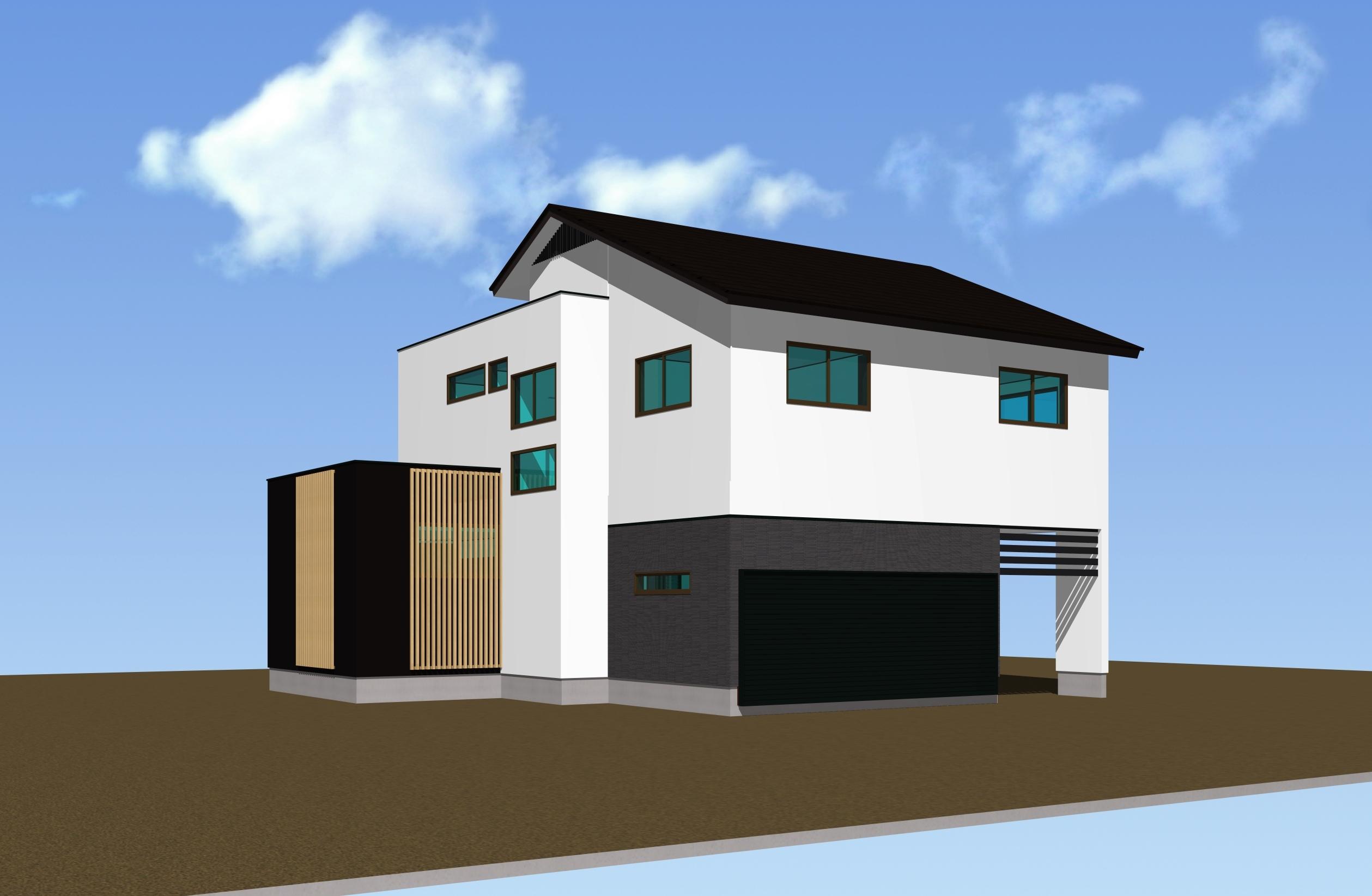 9/19(祝)完成内覧会『スキップフロア+ビルトインカーポートのある漆喰の家』