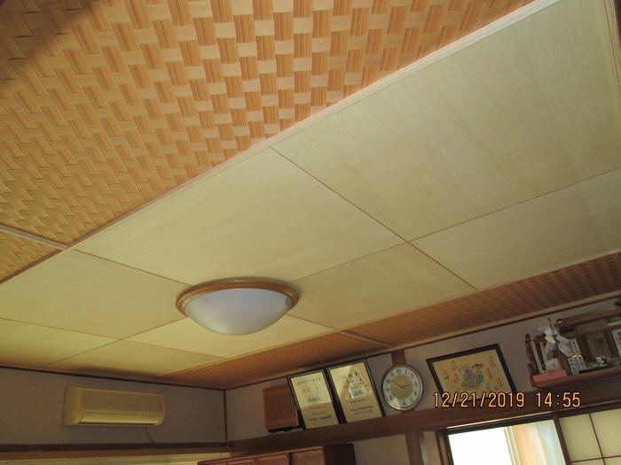 和室天井上げ替え工事