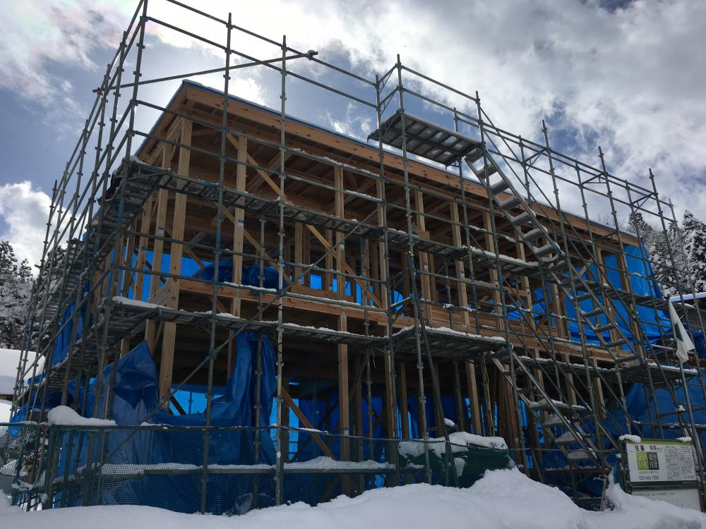 【新築住宅】上山市高松 S様邸 建て方:画像