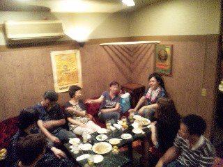2012/08/22 06:14/蒲生さんのパラディースにて反省会です。