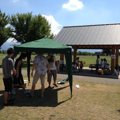 2012/08/22 05:55/こちらの公園で、はじめてBBQをしましたよ♪