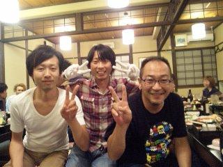 2012/09/06 05:33/こちらどSさん(右)と秋田の佐々木さん(左)真ん中自分