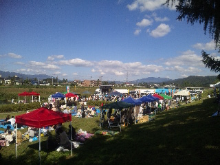 2012/10/09 12:30/昨日のながい1000人芋煮会は天候に恵まれ大盛況でしたね!