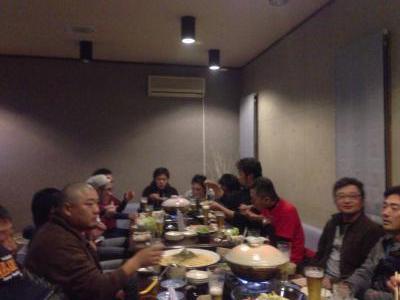 2012/11/29 05:41/子どもたちの活躍ぶりを肴に美味しく楽しく懇親会に参加させて頂きました。