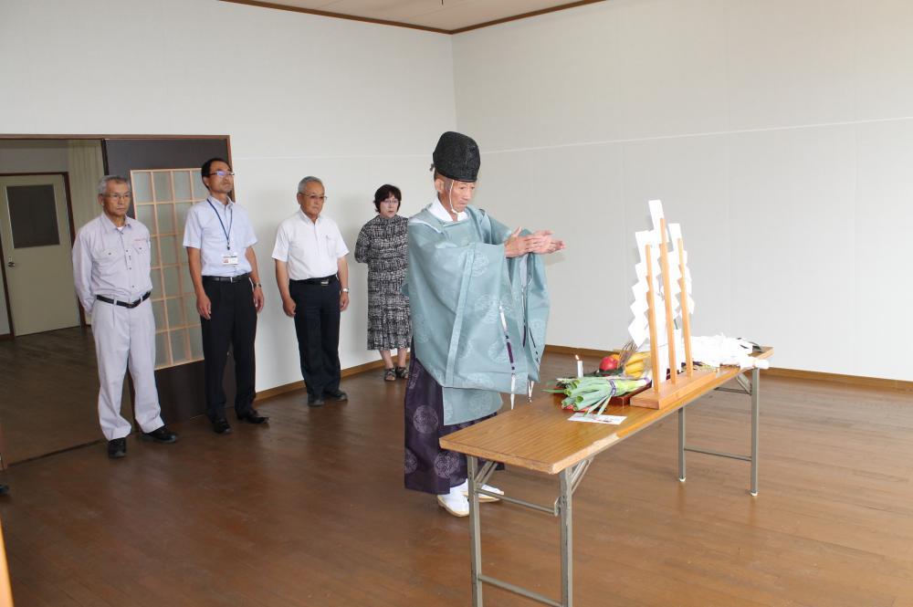 生活サポートセンター完成祈願祭を実施