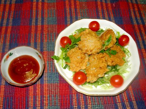 【No.17】レンコンと鶏ササミのこめっこチキンナゲット:画像