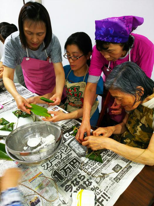 笹巻作り体験会。