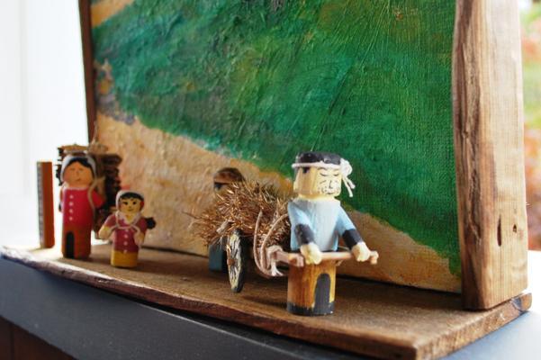 イザベラ・バードの通った道(山形県川西町小松編)木工クラフトN01諏訪峠
