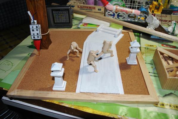 豊年獅子踊り人形作り