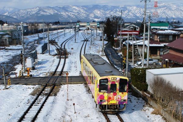 米坂線とフラワー長井線