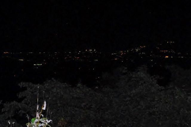 天元台高原から米沢市内の夜景