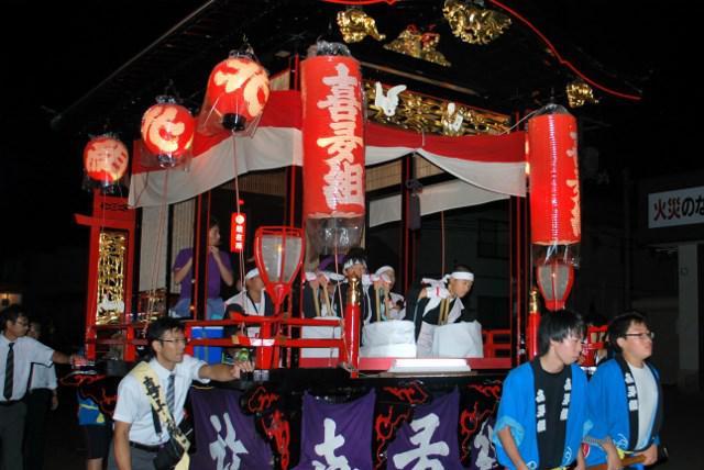 しゃぎり(川西町小松地区のお祭り)