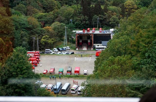天元台高原で山岳救助訓練