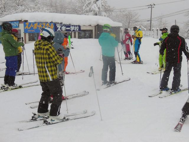 米沢スキー場シニア講習