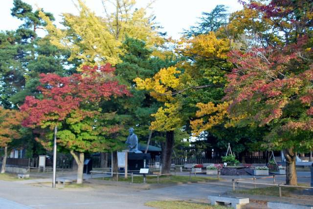 伝国の杜周辺の紅葉