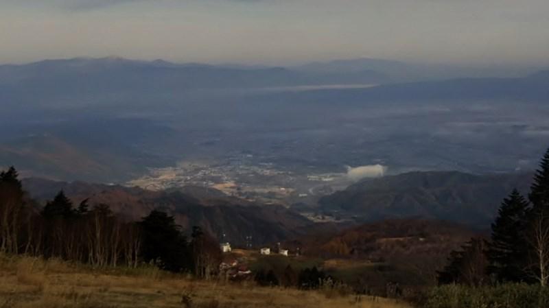 山が白くなりました