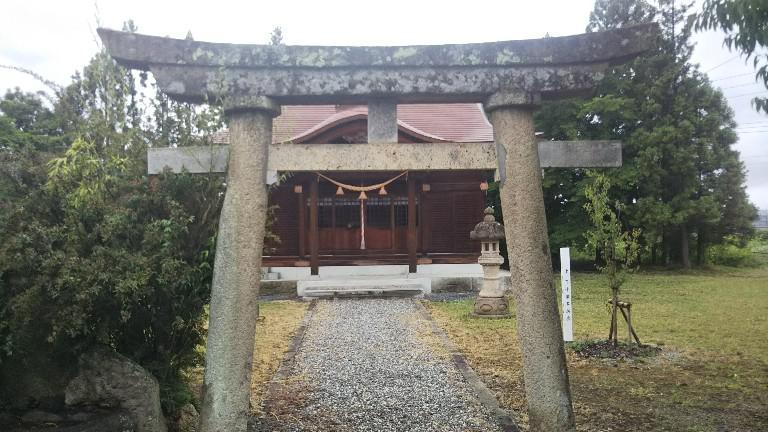 田塚神社(窪田町上下小瀬鎮守)『虎列刺大明神』