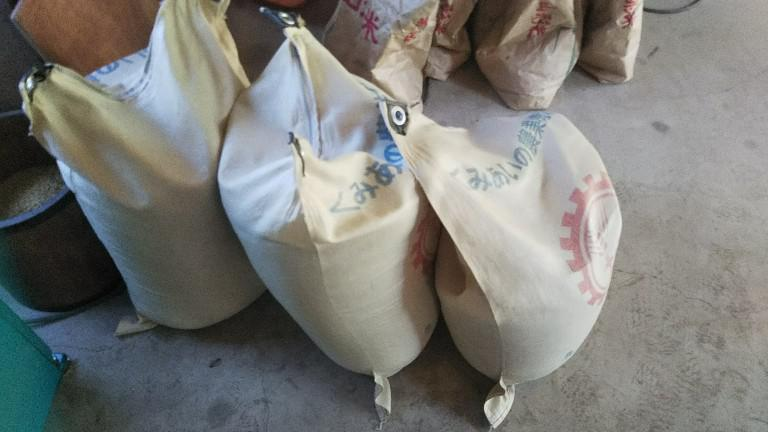 脱穀、籾すり