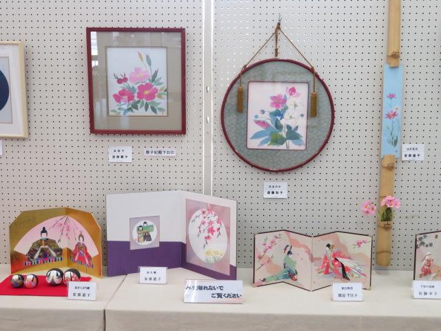 和紙ちぎり絵作品展、開催中♪:画像