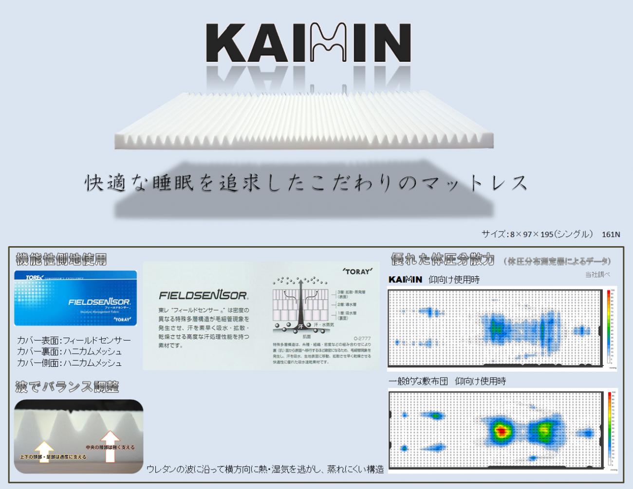 体圧分散マットレス 「KAIMIN(カイミン)」
