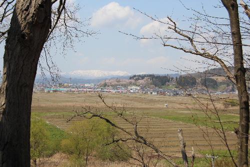 ネットで花見第2日 赤湯烏帽子山公園を自転車に乗って遠望
