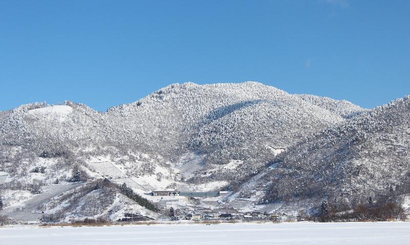 今日からまた大雪警報がでそうな雪模様です 昨日は一面の青空が広がり久しぶりの晴れとなり真っ白な十分一山を鮮やかに浮き出させてくれました 木々の枝に積もった雪が見えるような貴重な風景です 心を癒してくれる景色ですが今度はいつになったらこんな青空がみられるのでしょうか