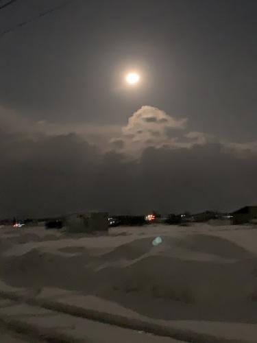 満月に近い月