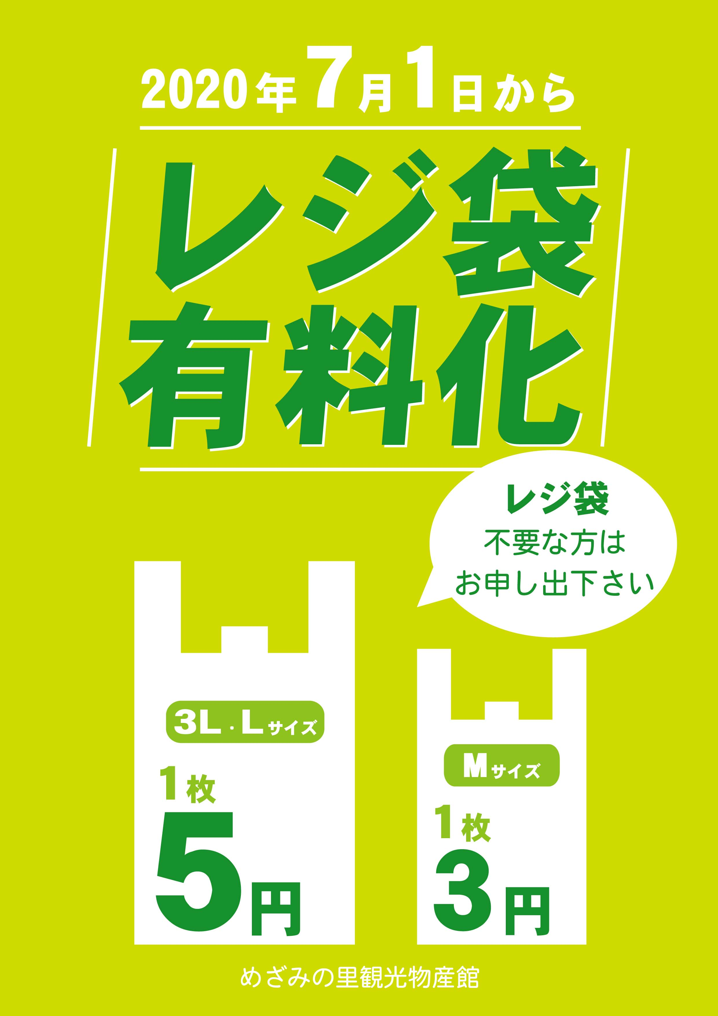 レジ袋有料化について:画像
