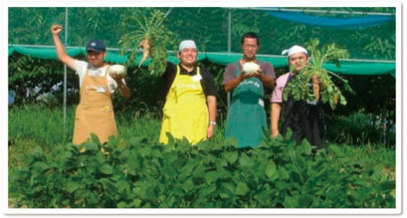 人にも街にもやさしい?エコな農業を実践しています。