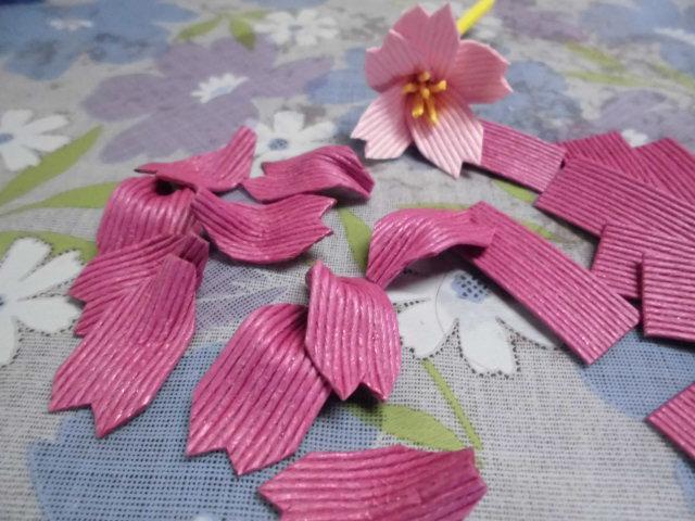 ★。★今日は、桜の花を作っております・・・美蔵