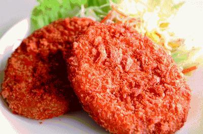 mistarboo「朝の番組、やじうまワイドで米沢牛コロッケが紹介。本田食品の米沢牛コロッケです」