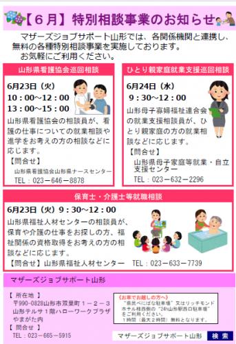 6月 「特別巡回相談事業」のお知らせ/