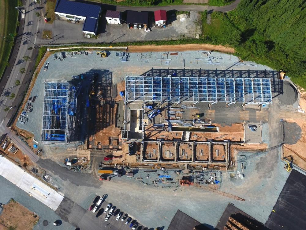 発電所の建設状況(平成29年8月現在):画像