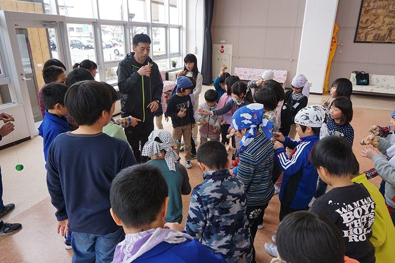 けん玉世界記録挑戦に向けた事前練習会 in豊田小学校