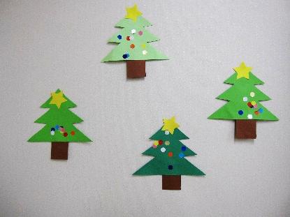 クリスマスツリーをつくったよ