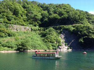 長井ダム遊覧船 百秋湖めぐりを開催しました:画像