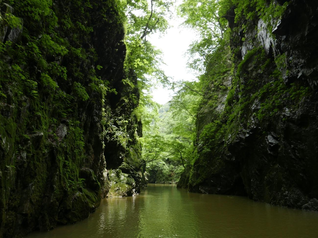 水位回復のながい百秋湖、本日の三淵渓谷:画像