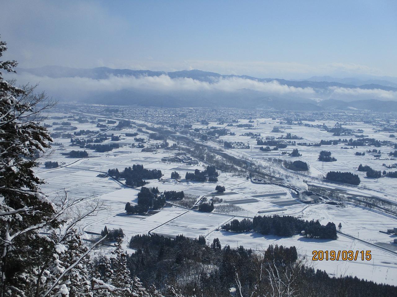 雪景色の長井〜ひのき峰方面から〜:画像