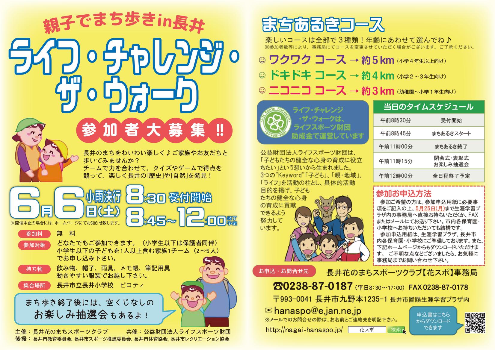 ライフ・チャレンジ・ザ・ウォーク申込用紙ダウンロードページ