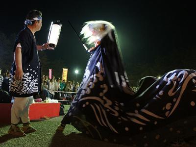 【第28回ながい黒獅子まつり−津島神社(森)−】:画像